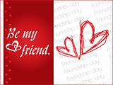 friendship day series with heart and floral, banner 8