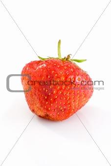 Single tasty ripe red strawberry