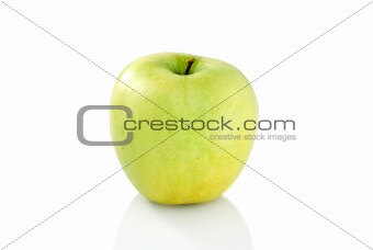 Single green apple