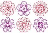 abstract flower designs