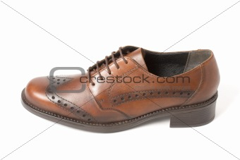 Brown shoe isolated on white