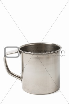 Simple metal cup isolated