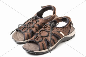 Pair of sport sandals isolated