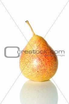 Single spotty yellow-red pear