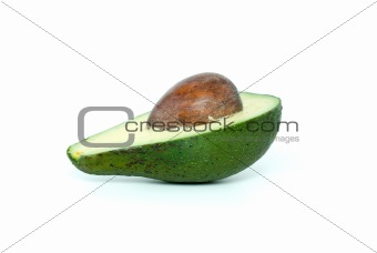 Avocado half with kernel