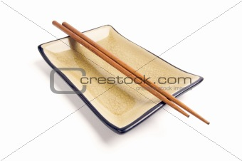 Abstract Chopsticks and Bowl