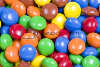 Assortment of Colorful Chocolate Candy