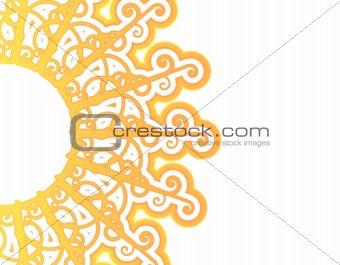 Sunny retro pattern abstract