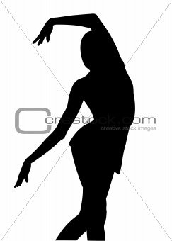 Silhouette girl gymnast