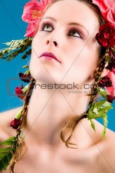 Cosmetic flower girl