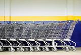 Line of Shopping Carts