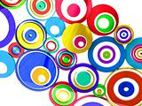 vibrant colors circles