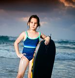 girl boogie surf board