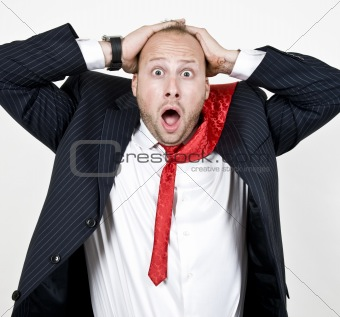 amazed businessman