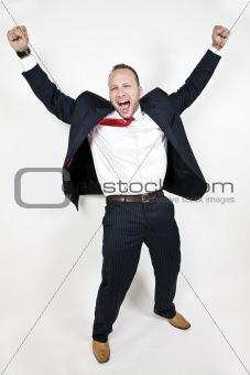 businessman in joy