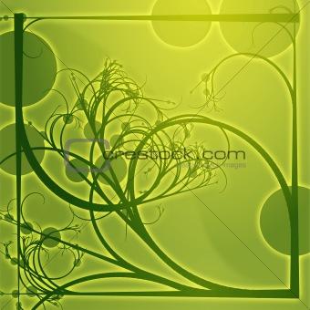 Floral border frame square