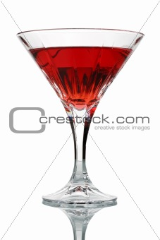 Red Cocktail in Glass