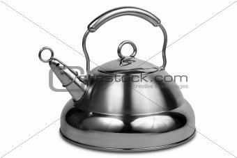 Modern metal teapot