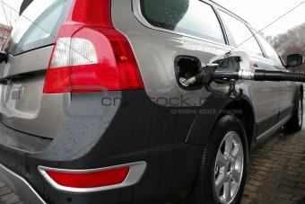 car on a filling station