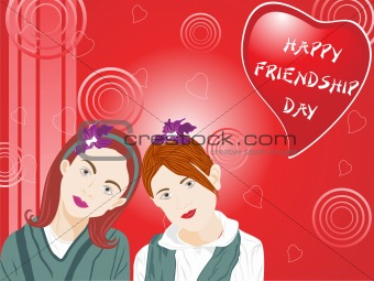 beautifull illustration of two female friend_2