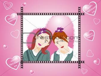 beautifull illustration of two female friend_3