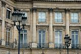The facade of the palace of Versailles