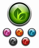 Leaf button icon