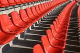 Red seats in an empty Sports Venue