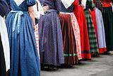 Folk dancer women