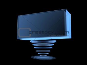 3d digital transparent screen