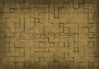 Grunge background with square tiles