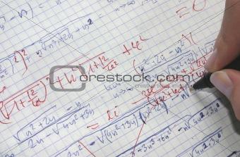 correcting maths
