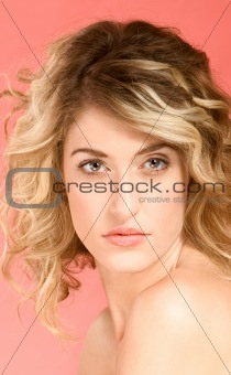 Portrait of beautiful blonde with long hair