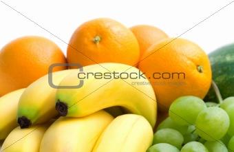 fresh banana on fruits background