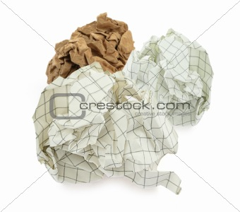 group of crumpled paper balls