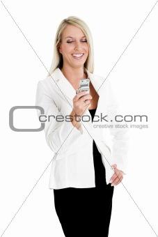 Blond woman phone