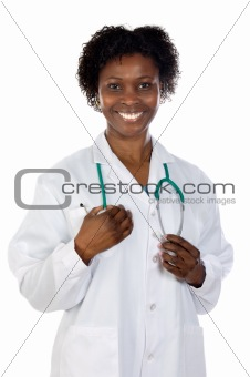 beautiful african woman doctor
