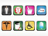 vector medical icon series web 2.0 style set_1