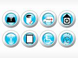 vector medical icon series web 2.0 style set_2