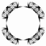 Decorative Abstract Digital Design - Circular Frame