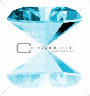 3d Aquamarine Gem Isolated