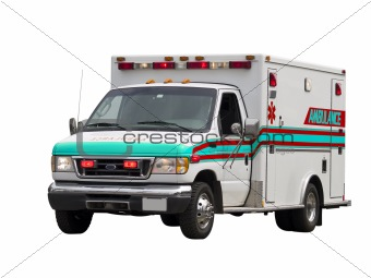 Paramedic Van Isolated