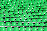 Green seats in a Sports Venue