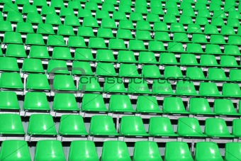 Green seats in a Sports Venue