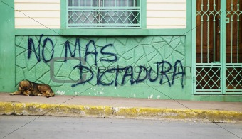 Anti government graffiti in Nicaragua