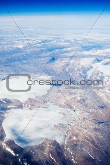 Aerial of Baffin Islands