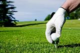 Golf Tee Hand