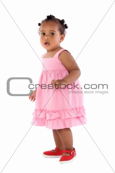 adorable baby pink dressed