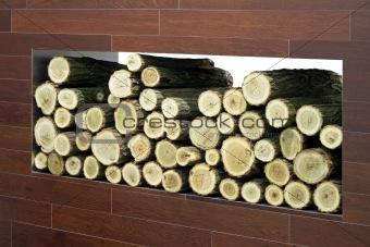 Firewood log