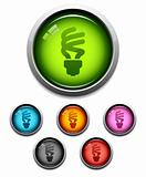 Compact fluorescent lightbulb icon